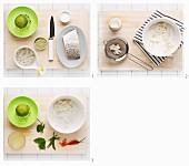 Ceviche mit Kabeljau, Limette und Kokos zubereiten