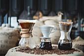 Filterkaffee aufbrühen, Rösterei und Cafe 'Elbgold' in Hamburg