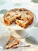Kirschenmichel (cherry bread pudding) cake with icing sugar
