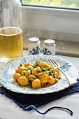 Pumpkin gnocchi with fresh herbs