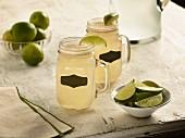 Margaritas in glass mugs