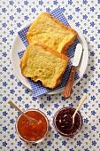 Brioche Perdue with jam