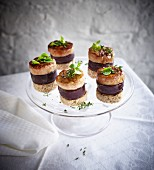 Flönz (Rhineland black pudding) with foie gras