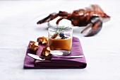 Cream of lobster soup with caviar