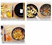 Apfelsuppe mit Gemüse zubereiten