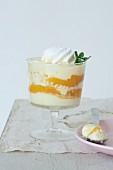 Mascarpone and peach dessert