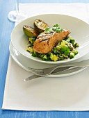 Barbecue Special - Ginger & Lime Salmon with Wild Rice Salad