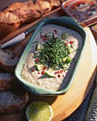 Sardine brandade with chilli and lime