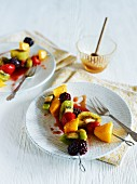 Fruit skewers for dessert