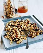 Healthy muesli with nuts