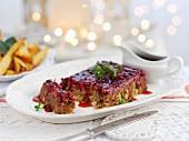 Nut Roast (Vegetarischer Braten mit Kastanien und Cranberries, England)