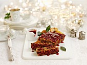 Nut roast (vegetarian roast with nuts and cranberries)