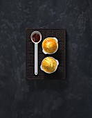Goat's cheese and Appenzeller soufflés