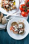 Dakos (vegetarian appetizer, Crete)