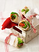 Pork salad cranberry wraps