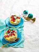 Cinnamon and Raspberry Cheesecake Pots