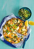 Artichoke, Trout and Herb Frittata