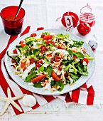 Crab & coconut summer salad