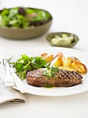 Grilled Steak with Parsley Butter