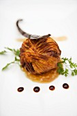 Bonbon croustillant of goose liver on Banyuls sauce