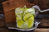 Caipirinha (cocktail made with Cachaca, lime and ice)