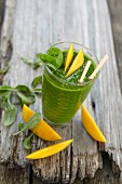 An exotic spinach and mango smoothie