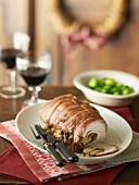 Roasted Stuffed Turkey Roll