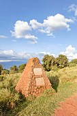 The grave of father and son Grzimek in the Ngorongoro crater in the Serengeti, Tanzania, Africa