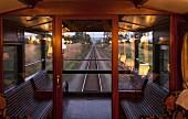 Blick aus dem Luxuszug Rovos Rail (Fahrt von Durban nach Pretoria, Südafrika)