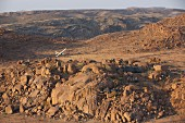 Flugzeug über dem 'Mowani Mountain Camp', Namibia, Afrika