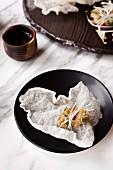 Hiramasa Kingfish-Tatar, Gericht im Restaurant Akachochin, Melbourne, Australien