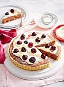 Choc-Cherry Hazelnut Tart