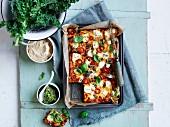Kale, sweet potato and fetta frittata