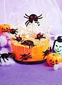 Spooky web cake