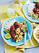 Drumsticks with Pineapple Salsa