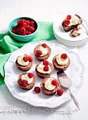 Chocolate-Raspberry Cheesecakes