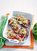 Rice Stuffed Eggplant & Capsicum