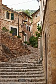Stone steps in Fornalutx, Majorca, Spain