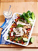 Chargrilled Chicken with Corn Salsa