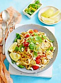 Fettuccine with Artichokes & Tomatoes