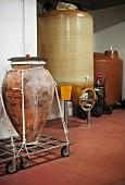 Frank Cornelissen's wine cellar in Passopisciaro, Sicily, Italy