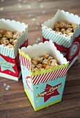 Popcorn in cardboard containers