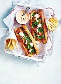 Baguette with Calamari