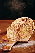 Spelt bread on a chopping board