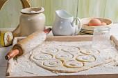 Homemade dough for doughnuts
