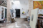 The current studio of artist Mahi Binebine in Tahannaout, Morocco