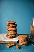 A stack of spiced biscuits with cinnamon