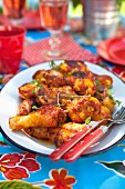 Chicken in tomato sauce with fresh thyme