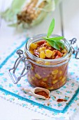 Sweetcorn relish with tomatoes
