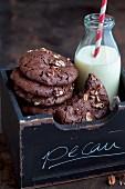 Pecan-Brownie-Plätzchen zu Weihnachten